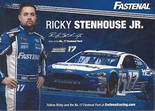 "2017 RICKY STENHOUSE JR ""FASTENAL 3RD VERSION #17 MONSTER ENERGY NASCAR POSTCARD"