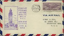 1932 FIRST FLIGHT COVER AM 29 - BATON ROUGE, LA. - CACHETED!