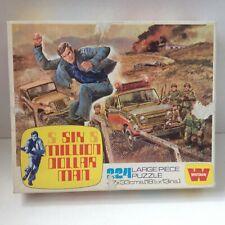 Vintage SIX MILLION DOLLAR MAN Puzzle 224 PIECES Whitman 1976 1970 s Bionic 100%