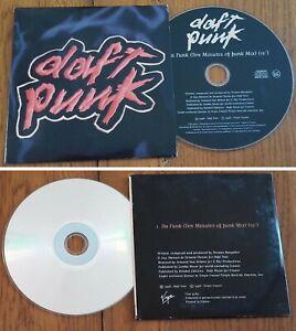 "DAFT PUNK Cd Single PROMO HORS COMMERCE"" Da Funk "" Collector 1 Titre France 1996"