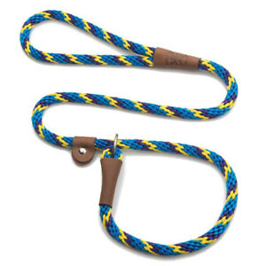 Mendota - Dog Puppy Leash - British Style Slip Lead - Sunset - 4, 6 Foot