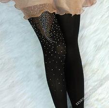 Sexy Muster Strumpfhose Blatt mit Schmuck verziert Schwarz Weihnachten XS S M