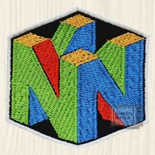 Nintendo 64 Logo Embroidered Patch Vintage Console Retro Super Mario Bros NES