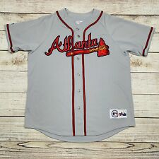 Majestic MLB Atlanta Braves Gray Sewn Baseball Jersey Mens XL
