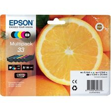 Genuine Epson 33 Oranges Claria Premium Multipack Ink Cartridges T3337