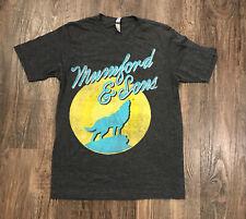 Mumford & Sons - howling wolf / band logo t-shirt - size Medium Gray