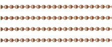 100 Feet 3.2mm Solid COPPER BALL CHAIN ~ BULK LOT Footage PLUS 100 Connectors
