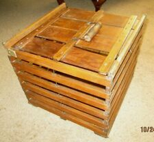 Egg Crate Antique Holds 12 DOZEN eggs, Wooden Safety Carrier Primitive Chicken