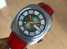 ROYCE ALARM TWIN MATIC 37mm AUTOMATIC DAY-DATE VINTAGE STEEL WRIST WATCH FOR MEN