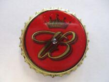 Budweiser Bottle Cap Pin Back With Red Flashing Light