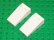 2 x Lego White Slope ref 30363 /set 10129 10019 7644 10198 7666 20010 7754 1376