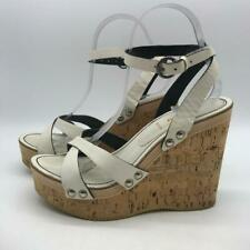 Miu Miu White Wedge Heel 9.5