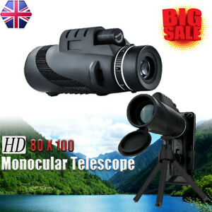 HD 80x100 Night Vision Portable Binoculars Monocular Telescope Super High Power