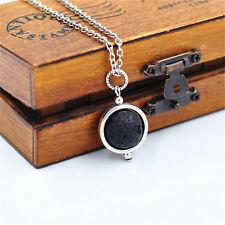 Fashion Choker Necklace Beautiful Black Lava Rock Stone Pendant Jewelry Necklace
