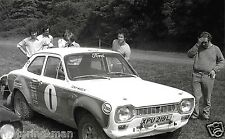 TONY MASON FORD ESCORT XPU219L XPU 219L ARKELL RALLY PHOTOGRAPH