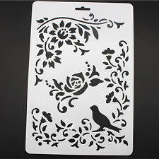 DIY Craft Tools Bird Vine Layering Painting Stencils Scrapbooking Stamps Album
