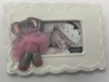 Mud Pie Baby Girl's Pink Ceramic Elephant Frame 3� x 2� Inch Picture
