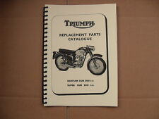 TRIUMPH BANTAM CUB,SUPER CUB PARTS BOOK/CATALOGUE -1967 TO 1968 MODELS