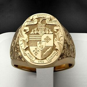 Fashion Gift 18k Yellow Gold Plated Rings for Men Jewelry Rings Size 6-13