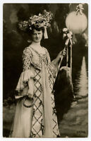 c 1907 Glamour Glamor Pretty Music BUGLE LADY  photo postcard