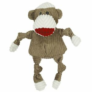 Hugglehounds KNOTTIE SOCK MONKEY Squeaker Dog Toy WEE