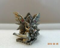 Jeweled Fairies Pewter Candle Holder Figure CL-10