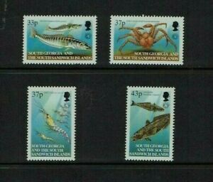 South Georgia: 2001, 20th Anniversary Convention on Antarctic Sea Life, MNH set