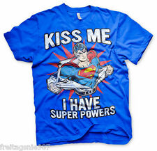 SUPERMAN KISS ME  T-Shirt  camiseta cotton officially licensed