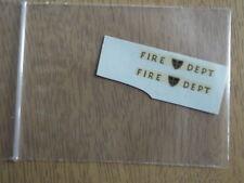 "Corgi Toys 423 Bedford Van ""Fire Department"" Decals/Transfers 2/2"