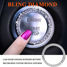 Bling Diamond SUV Car Start Engine Ignition Button Decor Ring Cover Sticker Trim