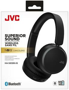 JVC Black Wireless Bluetooth Noise Cancelling On Ear Headphones with Mic