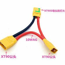 XT90-S Anti-spark Plug Serial Cable 1 Female 2 Male #10 silicone wire L10cm