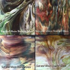 KOKOMO Stained Glass Sheet Pack #5 (4 Sheets of 8X8) HIGH QUALITY SHEET GLASS