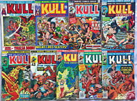 KULL THE CONQUEROR#3-21 FN-VF LOT 1972 (9 BOOKS)  MARVEL BRONZE AGE COMICS