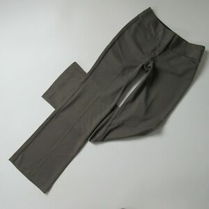 NWT Express Editor Wide Waistband in Brown Studio Stretch Flare Pants 0 x 32 ½
