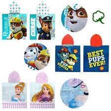 Kids Disney Cartoon 100% Cotton Licensed Hooded Towel 60 x 120 cm