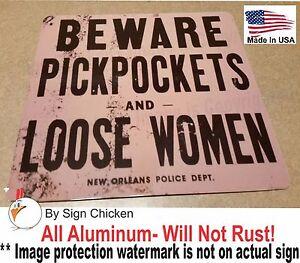 PICK POCKETS / MAN CAVE SIGN, BAR ROOM SIGN,  wall decor,  VINTAGE REPLICA
