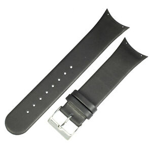 New Genuine leather black watchstrap band to fit 981XLSLB SKAGEN watches