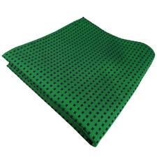 Seideneinstecktuch in grün smaragdgrün blau gepunktet - Einstecktuch 100% Seide