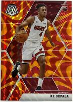 2019-20 Panini Mosaic Kz Okpala Orange Reactive Prizm Rookie RC Miami Heat 🔥📈