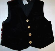 Black Velvet Puppy Dog Vest Yorkie Dalmation Collie Maltese 18 Months C-2