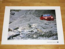 """BMW M3 E30 POSTER 34 - """" 75 JAHRE BMW AUTOMOBILE """" / ORIGINAL VINTAGE MINT 10/12"""