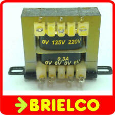 TRANSFORMADOR DE ALIMENTACION 220VAC A 6V+6V 0.3A 12V 0.2A CHASIS ABIERTO BD8284