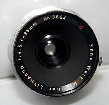 Enna Werk Munchen Lithagon 35mm F/4.5  Lens for Exakta