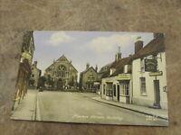 Lincolnshire postcard - Market Street scene, Spilsby East Lindsey
