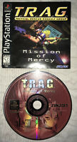 RARE 1999 TRAG Mission of Mercy PS1 Playstation Game - Manual & Disk! Tested!