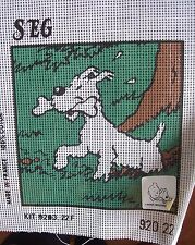 canevas broderie  Milou son os Hergé 1995 à broder neuf