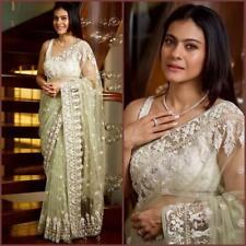 Heavy Net Saree Designer Women Stylish Gorgeous Bollywood Party Sari  NSR-156