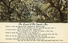 The Legend Of The Spanish Moss Wedding Day Tragedy 1970s Vintage Postcard
