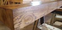 "Dry Oak Beam Mantle Piece Fire Surround 8"" x 4"" long upto 8ft"